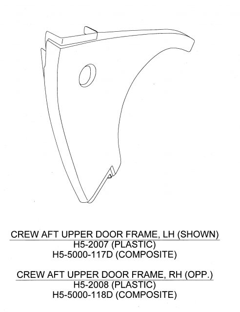 CREW AFT UPPER DOOR FRAME PANEL L/H